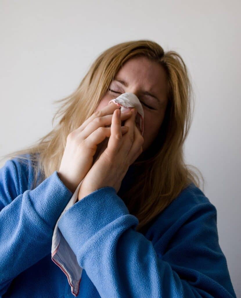 Allergic rhinitis hay fever itch nose